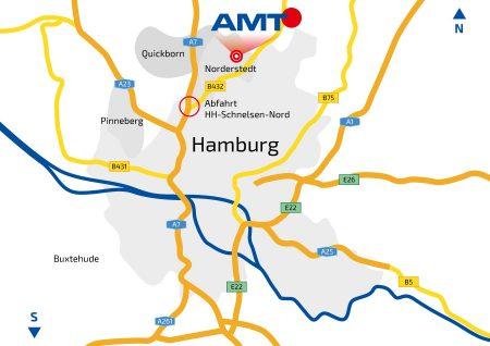 Anfahrtskarte AMT Norderstedt