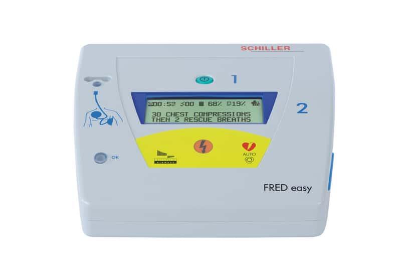 Ansicht des SCHILLER fred easy auto Defibrillators