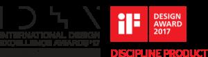 Logo International Design Excellence Awards 2017 für das Ultraschallgerät SAMSUNG HS40 von AMT Abken Medizintechnik in Wunstorf