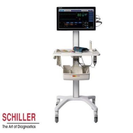 Die Schiller Diagnostikstation DS 20 hat alle Vitalparameter stehts griffbereit
